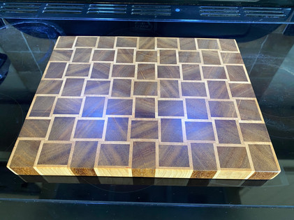 End Grain Basket Weave Chopping Board