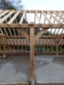 Oak framed garage in Faversham  Kent.