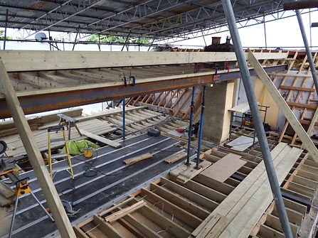 Carpenters in Kent new roof on an extension fitting the common rafters