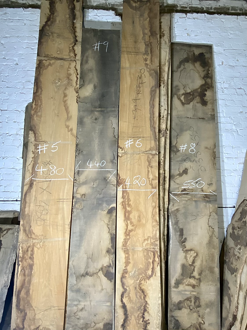 waney edge oak slab. No # 9. Kiln dried Oak slab for sale