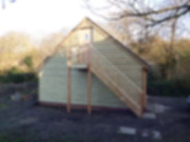 Oak framed garages storage area.  local carpenters in Faversham.