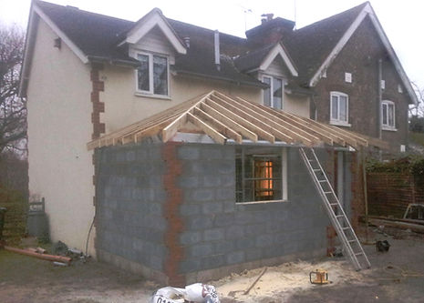 Our carpenters preparing the roof ready for tiling doodle and construct carpenters Kent
