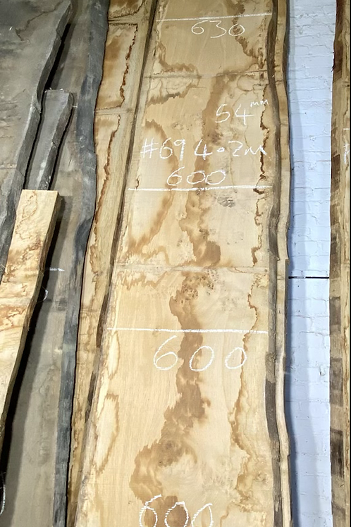 Waney edge oak slab.  No. #69 . Kiln dried Oak Slab for sale