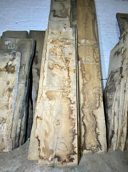 waney edge oak slab. No # 7. Kiln dried Oak slab for sale