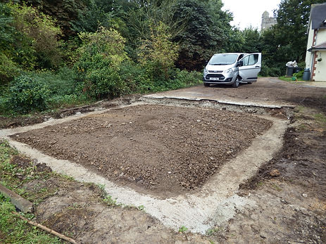 foundations for the oak framed garage