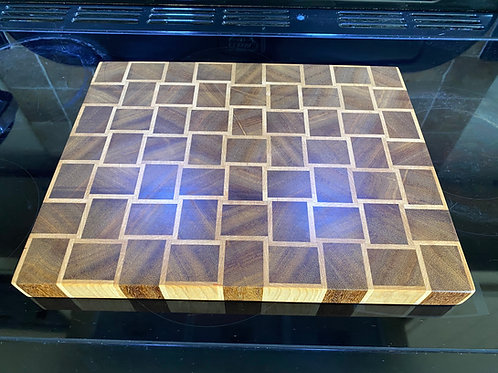 Basket Weave Hardwood End Grain wooden Chopping Board