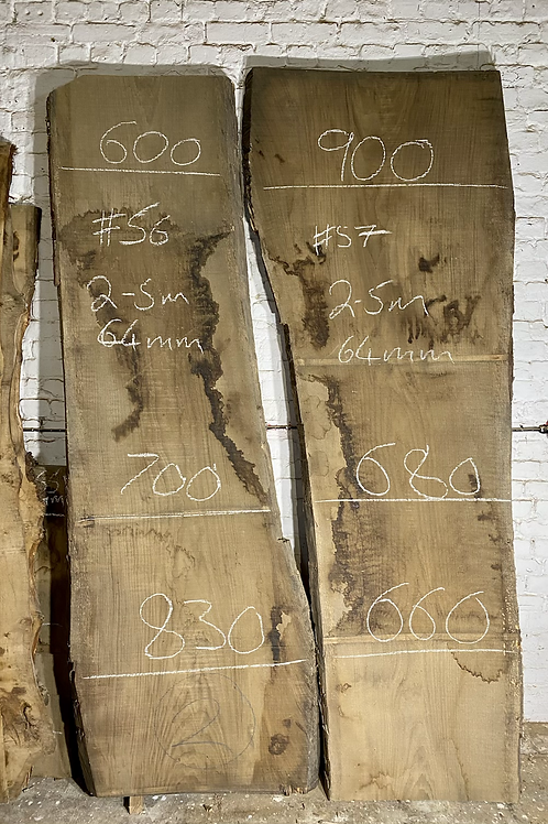 Pair Of Oak Slabs, Perfect For A High End Table