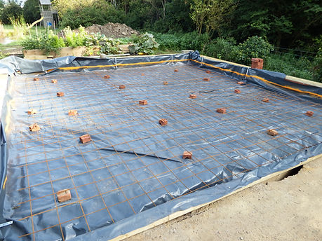 Mild Steel Reinforcing mesh ready for the concrete oversite