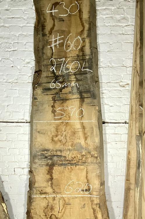 waney edge pippy oak slab. No # 60. Kiln dried Oak slab for sale