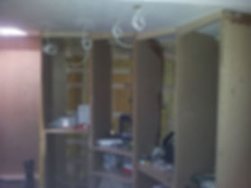 Carpenters starting to fit the fitted wardrobes in the bow bedroom, by doodle and construct your carpenters in Kent