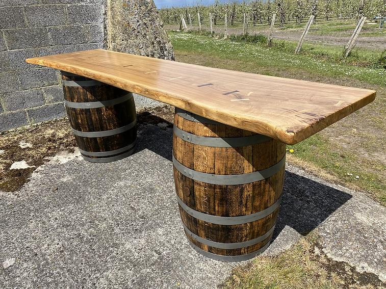 Waney edge oak slab bar top .HEIC
