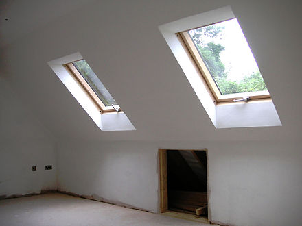 Loft conversion roof windows in Harrietsham Kent