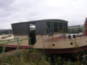 Humber keel Barge wheelhouse fitting the steel sides