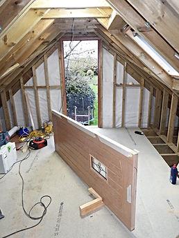 Fitting an oak door to the oak framed garage. Faversham Kent