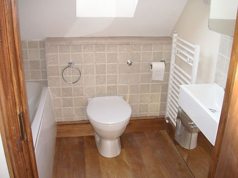 Loft conversion upstairs bathroom, by doodle and construct your local carpenters in Kent
