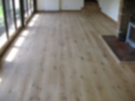 Oak floor re-sand by our local carpenters in Faversham Kent