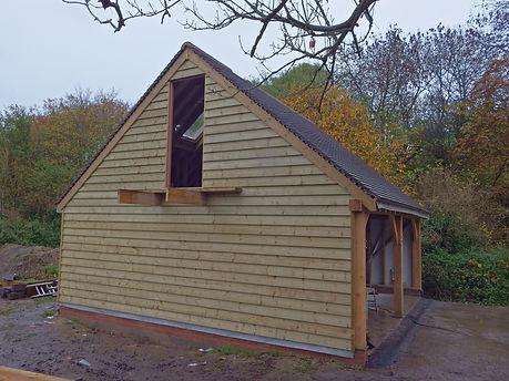 Oak frame garages in Faversham Kent