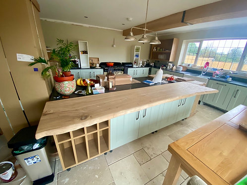 Waney Edge Oak Counter Top