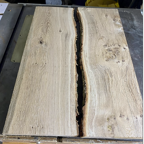 Air Dried English Oak For A River Table Projer
