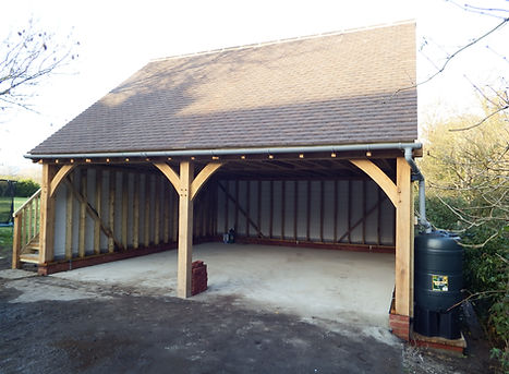 2 bayed Oak framed garage in Faversham Kent