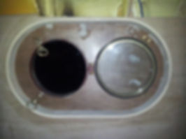 Porthole on a humber keel barge