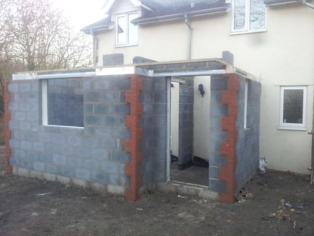 Single story extension by doodle and construct builders in Rochester Kent