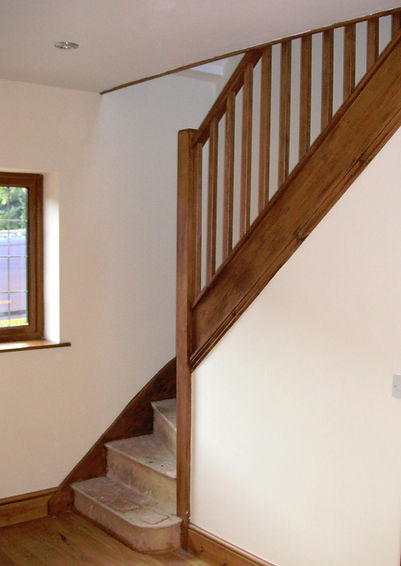 Carpenters in Kent finished staircase on the loft conversion in Harrietsham Kent