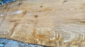 Air dried waney edge oak slabs for sale