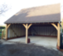 Oak framed garages by local builders in Kent.