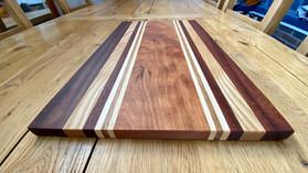 Racing Stripes Hardwood chopping boards