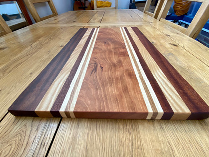 Racing Stripes Hardwood chopping boards
