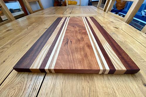 Large Racing Stripes Hardwood wooden chopping board