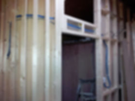 Making the office walls on the port side of the Humber keel houseboat