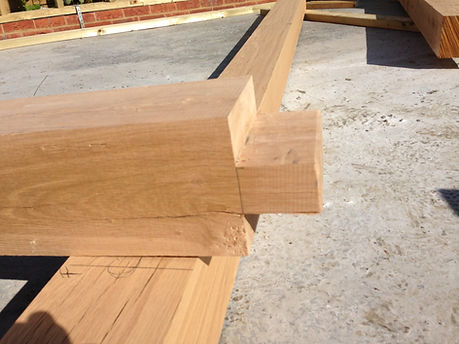 Traditional mortice and tenon for an oak framed garage