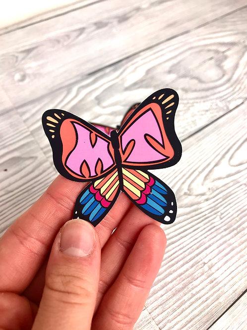 MT butterfly matte sticker