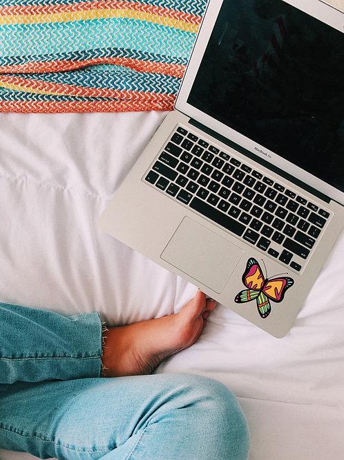 MT butterfly sticker