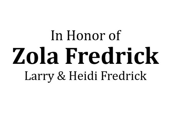 In Honor of Zola Fredrick - Hole Sponsor