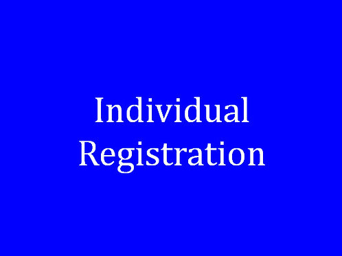 Individual Golf Registration