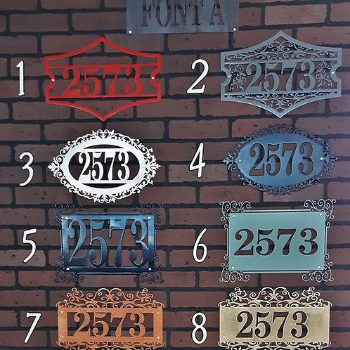 Address Signs Font A