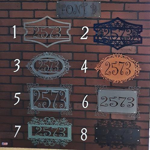 Address Signs Font B