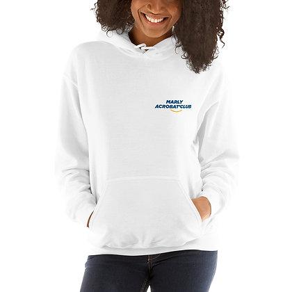 Sweat Blanc à Capuche logotisé Marly Acrobat'Club