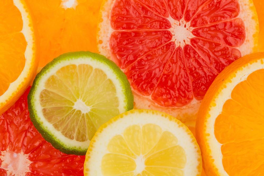 Orange, lime, lemon and grapefruit slices