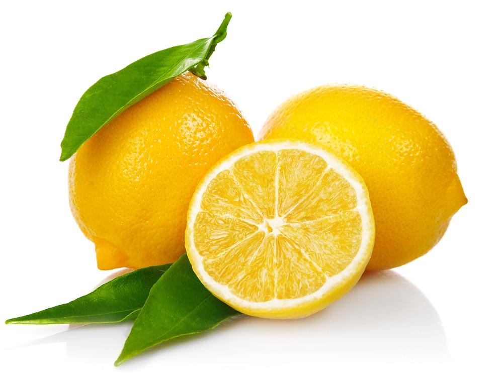 Lemon cut in half, citrus fruits, vitamin C