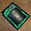 Thumbnail: Beautiful Geometric Stag Hipflask. Green satin lined display box.