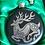 Thumbnail: Beautiful Celtic Deer round flask.