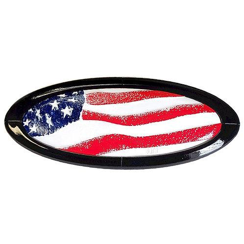 US Flag 3D Overlay Emblem Ford Oval F150 Emblem