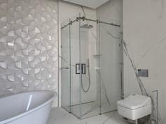Dušas stūris, duškabīne, bīdāmas divviru durvis ar magnētisku savienojumu