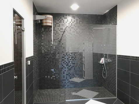 Walk in dušas siena