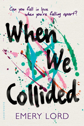 WHEN WE COLLIDED cover- paint splatters on white canvas