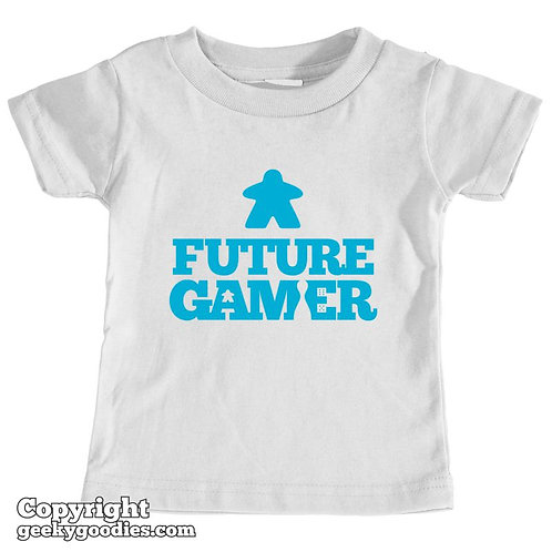 Future Gamer Toddler Tee Shirt (Blue Letters)